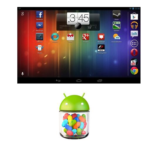 Android 4.1.2 Jelly Bean con modo Landscape
