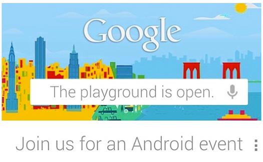 Invitación Google evento 29 de octubre Android evento Nexus