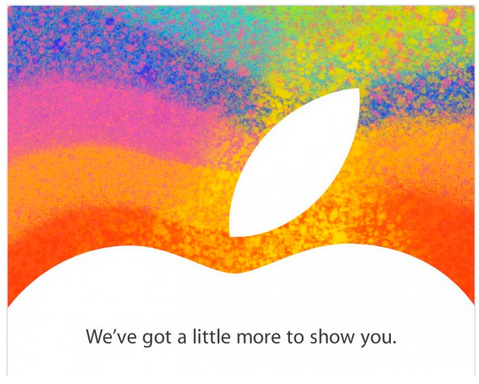 Apple invitación para evento iPad mini  23 de octubre