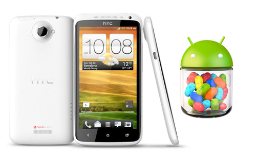 HTC One X con Android 4.1 Jelly Bean