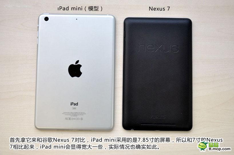 Comparación iPad mini con Nexus 7