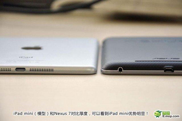 Comparación iPad mini con Nexus 7 lo delgado