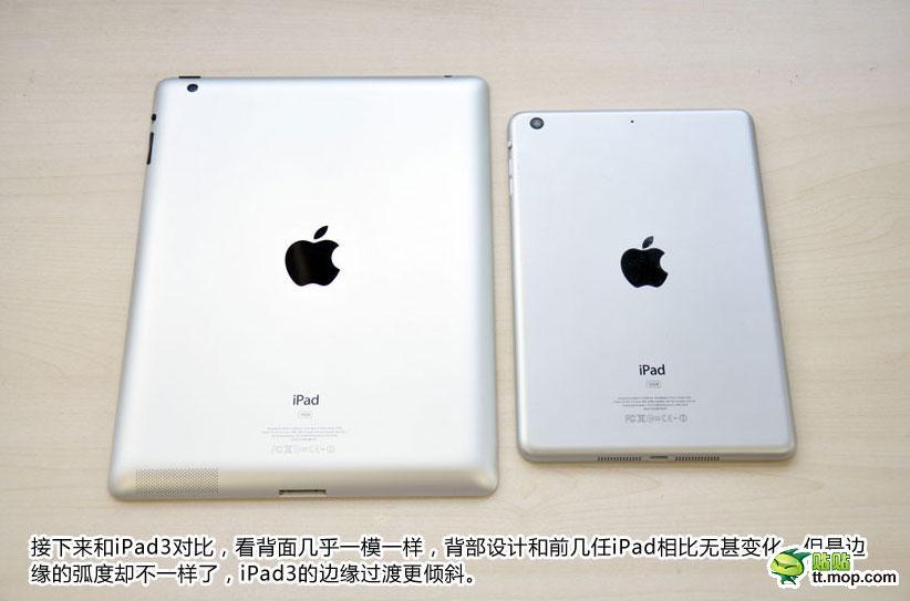 Comparación iPad mini con iPad 3