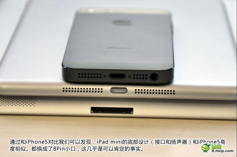 Comparación iPad mini con iPhone 5