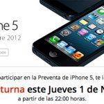 iPhone 5 venta nocturna en Iusacell el 1 de noviembre
