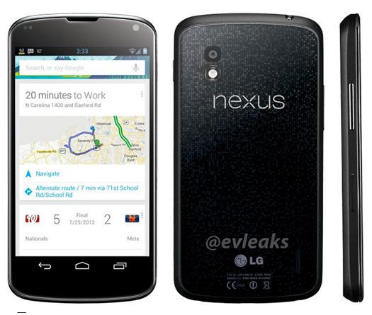 LG Nexus 4 de Google imagen oficial para medios