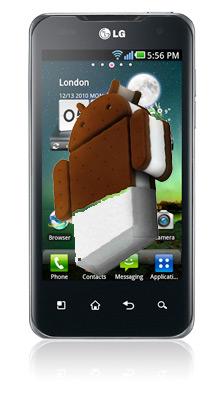 LG Optimus 2X con Android 4.0 Ice Cream Sandwich