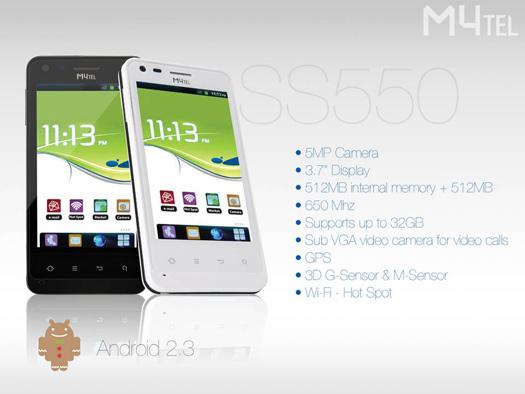 M4tel SS550 Genius un Android  en Telcel México características
