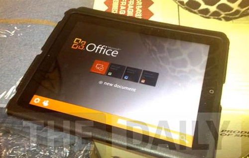 Microsoft Office en un iPad