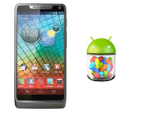 Motorola lista de actualización a Android 4.1 Jelly Bean