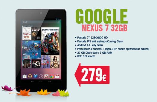 Nexus 7 de 32 GB en España