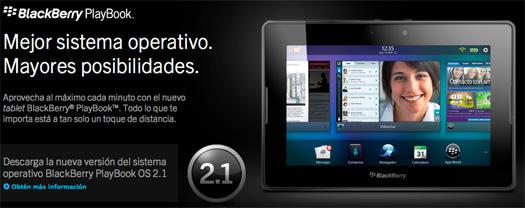 BlackBerry PlayBook OS 2.1 características