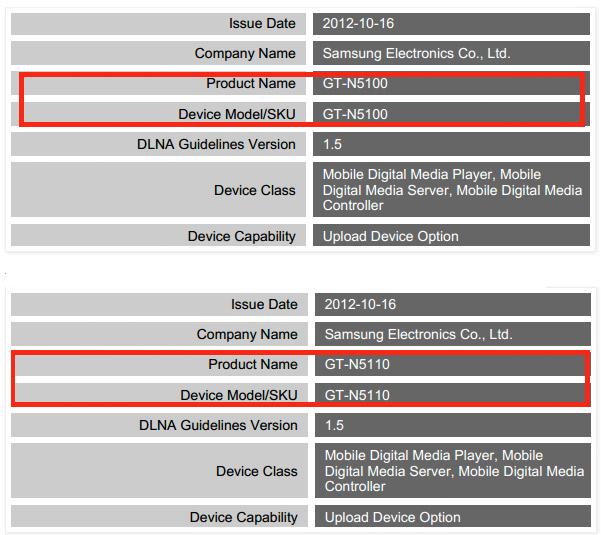Certificación DLNA Samsung GT-N5100