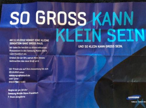 Samsung Galaxy S III mini invitación Alemania