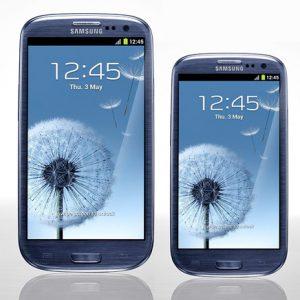 Galaxy S III mini comparación simulada