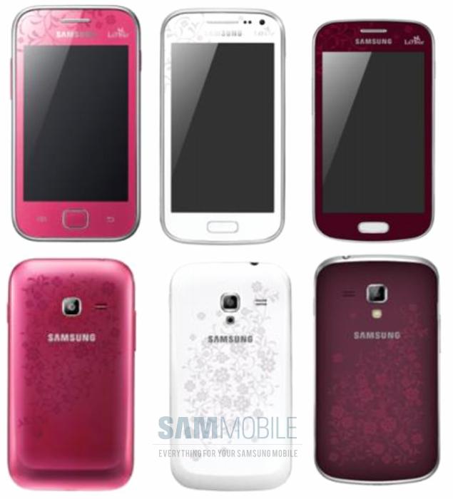 Samsung Galaxy smartphones edición La Fleur series para mujeres