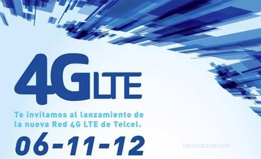Invitación Telcel  Red 4G LTE el 6 de noviembre