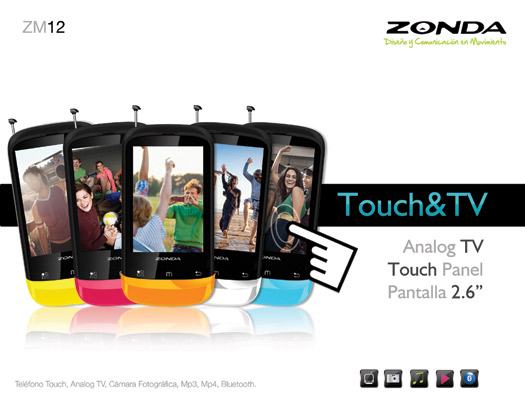 Zonda ZM12 un Touch, con TV gratis ya en México