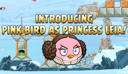 Angry Birds Star Wars Planeta Hoth Pink Bird Leia Princesa