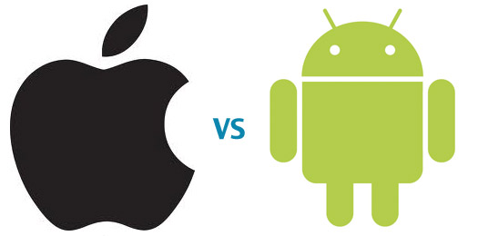 Apple VS Android logos
