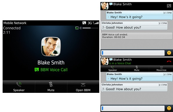 BlackBerry Messenger con BBM Voice llamadas mediante WiFi