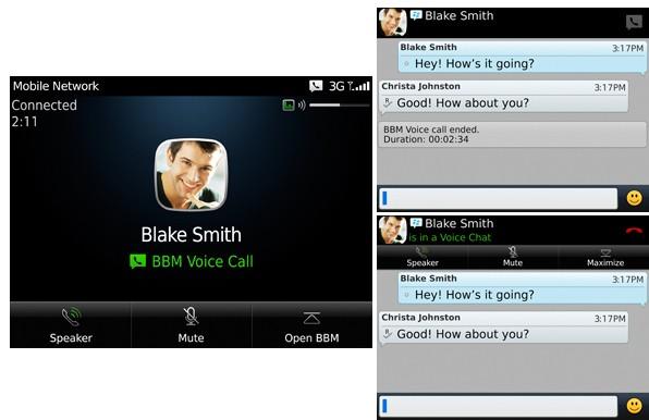 BlackBerry Messenger con BBM Voice llamadas mediante WiFi