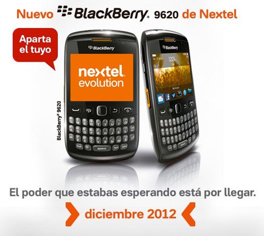 BlackBerry 9620 en México con Nextel