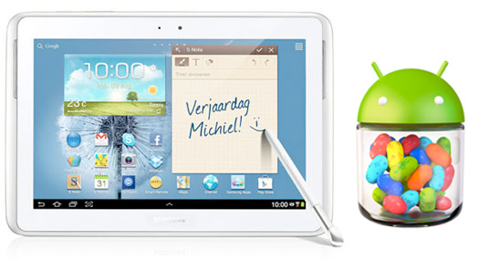 Samsung Galaxy Note 10.1 con Android 4.1 Jelly Bean