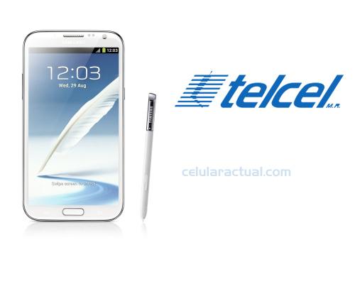 Samsung Galaxy Note II N7100 en México con Telcel