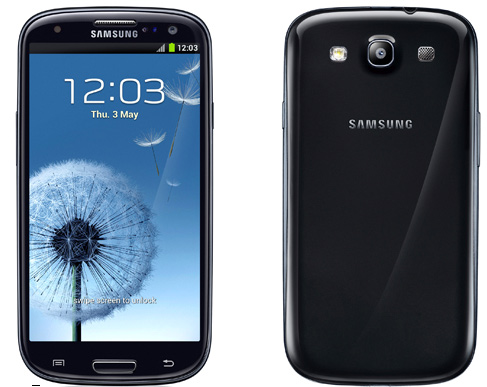 Galaxy S III en color negro