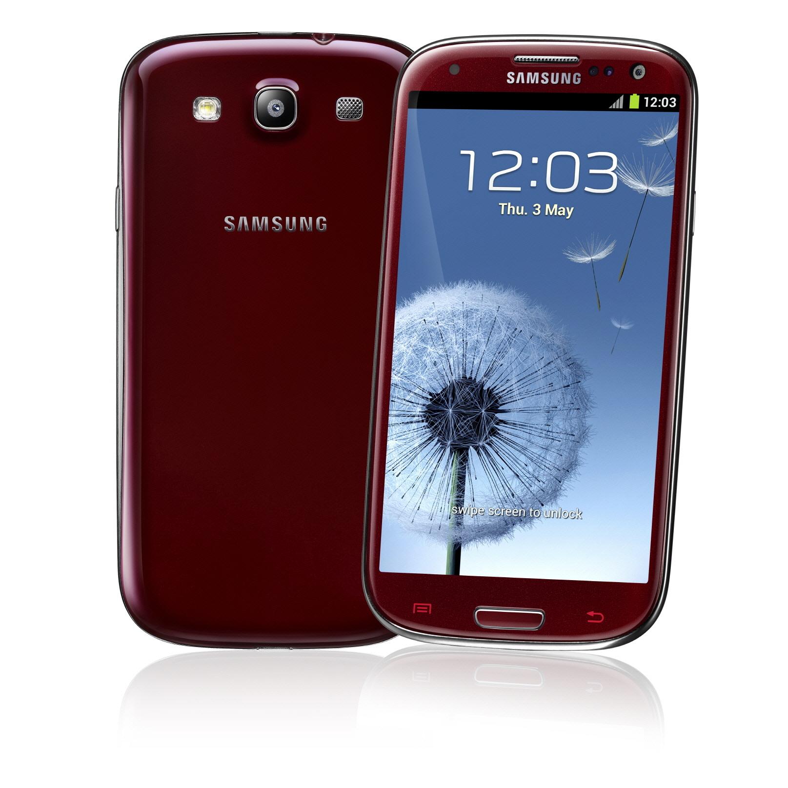 Samsung Galaxy S III color Rojo Red Garnet en México con Telcel