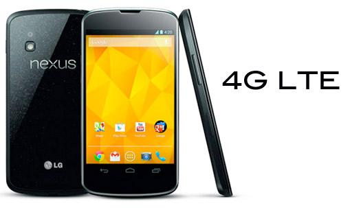 LG Nexus 4 es compatible con redes LTE