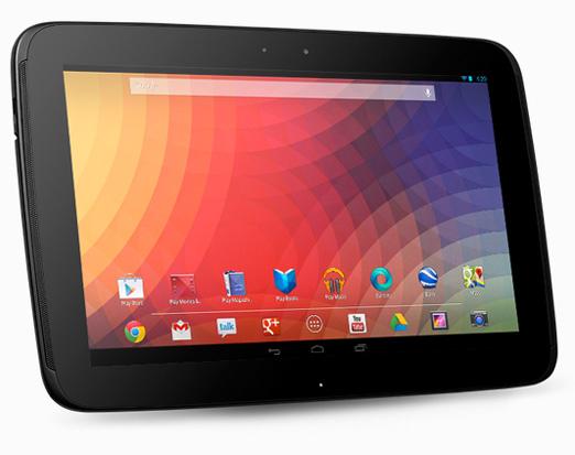 Nexus 10 de Google y Samsung