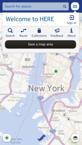 Nokia Here  para el iPhone (iOS)