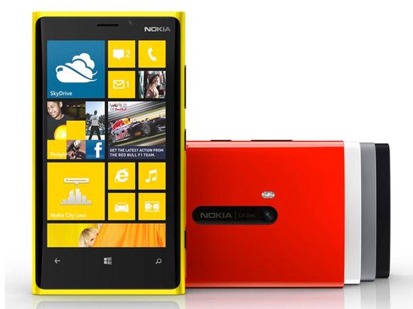 Nokia Lumia 920 oficial colores