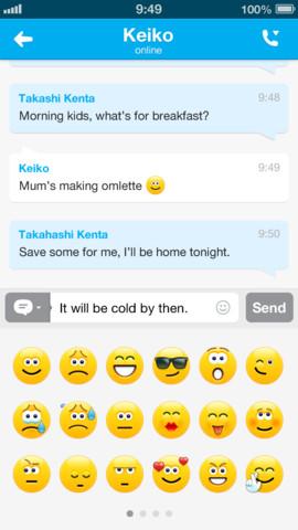 Skype para iOS 4.2 fusión con Microsoft Hotmail y Outlook.com