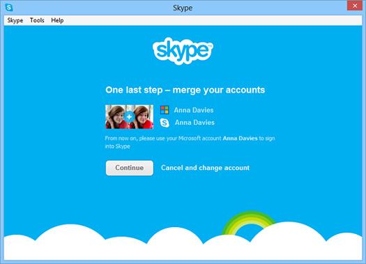 Skype con Microsoft Messenger