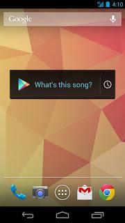 Sound Search widget para Google Play