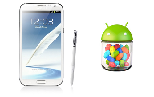 Samsung Galaxy Note II con Android 4.1.2 Jelly Bean