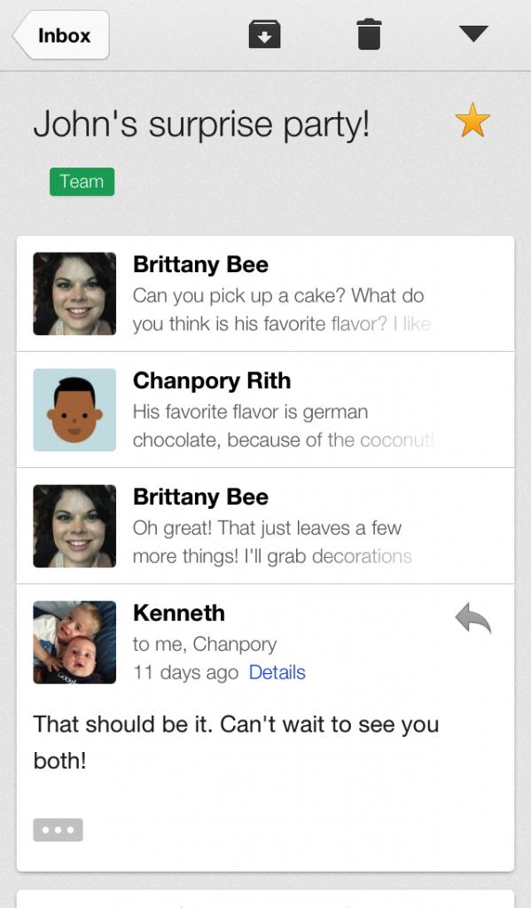 Gmail 2.0 para iPhone, iPad, iPod touch