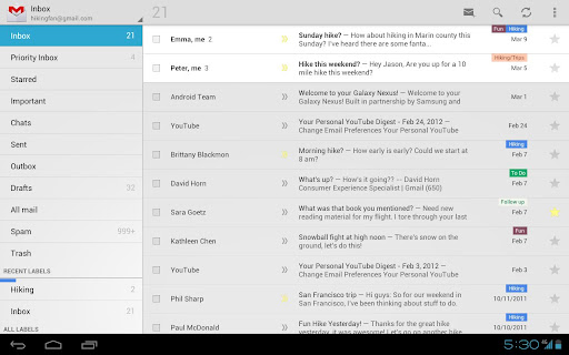 Gmail para Android se actualiza con zoom