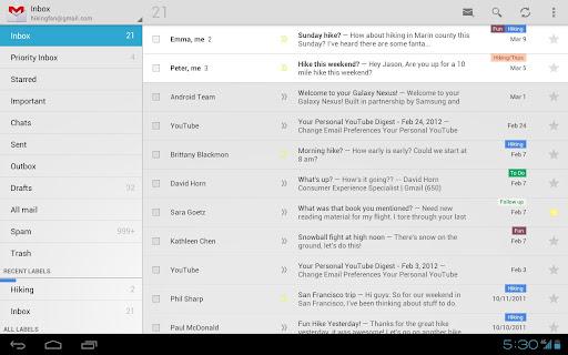 Gmail para Android se actualiza con zoom