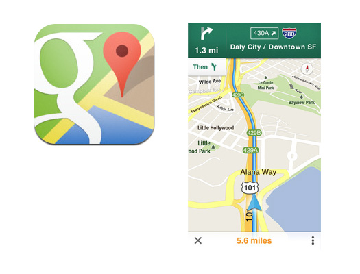 Google Maps para el iPhone, iPod touch y iPad
