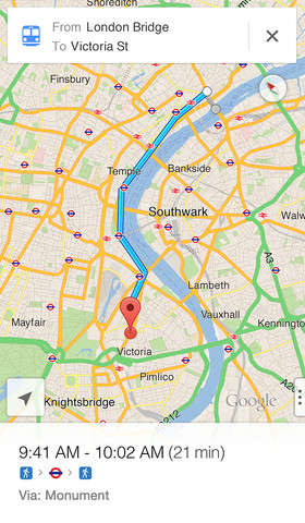 Google Maps para el iPhone, iPod touch y iPad