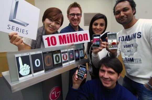 LG vende 10 millones de smartphones L series en todo el mundo