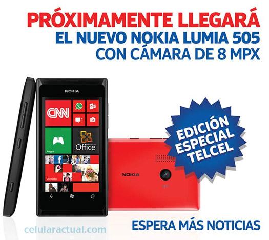 Nokia Lumia 505 Edición Telcel para México