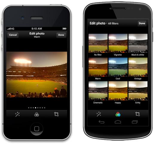 Twitter con Filtros de colores para fotos en iOS y Android