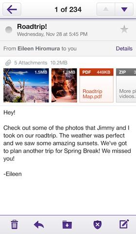 Yahoo! Mail App iOS