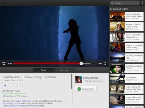 Youtube para iOS ahora con soporte para Airplay, iPhone 5 y iPad
