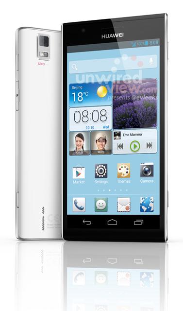 Huawei Ascend P2 con pantalla Full HD en primer imagen oficial